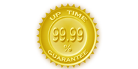 99.99% up time guarantee